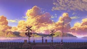 Rating: Safe Score: 18 Tags: black_hair camera clouds original scenic sennotane skirt sky sunset water User: RyuZU