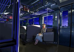 Rating: Safe Score: 138 Tags: headphones kurono-kuro original train User: FormX