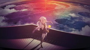 Rating: Safe Score: 79 Tags: clouds cropped kieed planet purple_hair thighhighs twintails vocaloid xingchen yellow_eyes User: BattlequeenYume