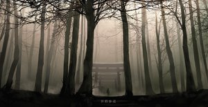 Rating: Safe Score: 70 Tags: dark forest izna_(iznatic) original polychromatic scenic torii tree User: mattiasc02