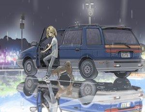 Rating: Safe Score: 28 Tags: animal car dog jetbrick night original rain reflection signed water User: RyuZU