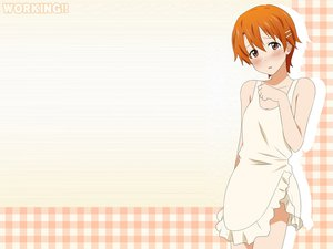 Rating: Safe Score: 25 Tags: inami_mahiru jpeg_artifacts naked_apron working!! User: HMX-999