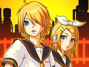 Rating: Safe Score: 11 Tags: kagamine_len kagamine_rin vocaloid User: HawthorneKitty