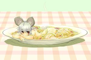 Rating: Safe Score: 81 Tags: animal_ears food gray_hair ishikkoro mousegirl nazrin nude red_eyes sketch tail touhou User: C4R10Z123GT
