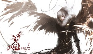 Rating: Safe Score: 101 Tags: angel original realistic unodu white_hair wings yellow_eyes User: LastZephyr
