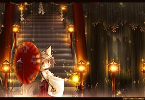 Rating: Safe Score: 48 Tags: ascendancy foxgirl japanese_clothes miko original rain torii umbrella User: Zolxys