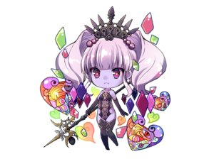Rating: Safe Score: 28 Tags: chibi elbow_gloves final_fantasy final_fantasy_xiv gloves heart purple_eyes purple_hair scathach_(ffxiv) spear thighhighs tiara twintails waifu2x weapon white yuma_(pixiv38148735) User: otaku_emmy