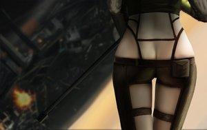 Rating: Questionable Score: 54 Tags: ass close gun gun_gale_online shinon_(sao) shorts sword_art_online weapon ydiya User: RyuZU
