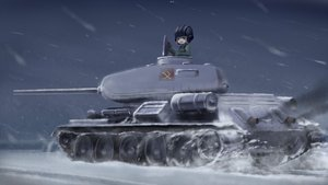 Rating: Safe Score: 64 Tags: chipika combat_vehicle girls_und_panzer katyusha short_hair snow uniform User: FormX