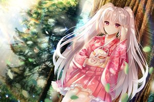 Rating: Safe Score: 50 Tags: japanese_clothes long_hair mask original red_eyes tagme_(artist) tree twintails white_hair User: BattlequeenYume