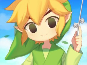 Rating: Safe Score: 25 Tags: all_male black_eyes blonde_hair cat_smile close clouds hat link_(zelda) male pointed_ears short_hair signed sky the_legend_of_zelda waifu2x wand wusagi2 User: otaku_emmy