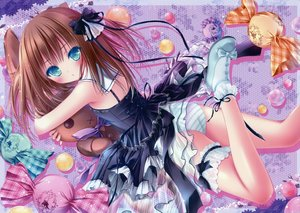 Rating: Questionable Score: 152 Tags: ass brown_hair bunny dress garter goth-loli green_eyes lolita_fashion nukui_kurumi panties see_through striped_panties tenshi_no_three_piece! tinkerbell tinkle underwear User: Wiresetc