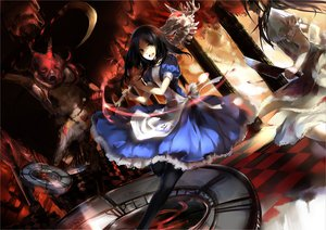 Rating: Safe Score: 105 Tags: 2girls alice_(wonderland) alice_in_wonderland h2so4kancel knife weapon User: Nnyuu