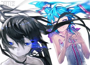 Rating: Safe Score: 62 Tags: black_rock_shooter el-zheng hatsune_miku kuroi_mato vocaloid User: HawthorneKitty
