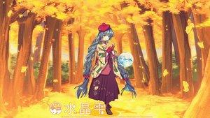 Rating: Safe Score: 22 Tags: autumn black_hair blue_eyes braids crystal_dew_world gloves hat japanese_clothes kimono kirino_kasumu suishou_shizuku tree watermark User: gnarf1975
