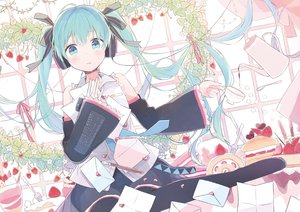 Rating: Safe Score: 133 Tags: blue_eyes blue_hair blush food fruit gomi_chiri hatsune_miku jpeg_artifacts paper strawberry tears twintails vocaloid User: FormX