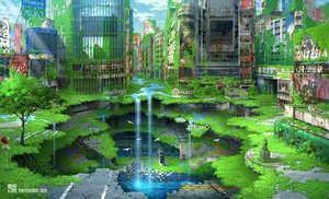 Rating: Safe Score: 65 Tags: animal bird building city green original ruins scenic stairs tokyogenso train tree water waterfall watermark User: FormX