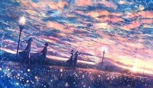 Rating: Safe Score: 64 Tags: bou_nin clouds grass group long_hair original polychromatic scenic seifuku short_hair sky User: luckyluna