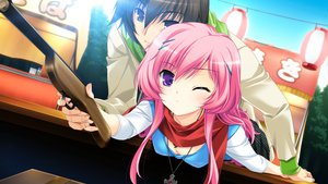 Rating: Safe Score: 66 Tags: game_cg makita_maki mukougaoka_kana shinigami_no_testament User: Maboroshi