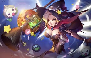 Rating: Safe Score: 58 Tags: blonde_hair book breasts candy cape cleavage elbow_gloves gloves halloween hat lollipop mercy_(overwatch) orange_eyes overwatch pumpkin short_hair signed tracyton witch_hat User: RyuZU