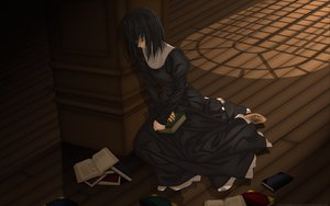 Rating: Questionable Score: 29 Tags: black_hair book dress kuonji_alice mahoutsukai_no_yoru short_hair type-moon vector User: Oyashiro-sama