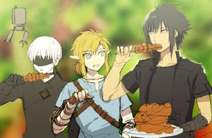 Rating: Safe Score: 24 Tags: all_male black_hair blindfold blonde_hair blue_eyes crossover final_fantasy final_fantasy_xv food gloves link_(zelda) male nier nier:_automata noctis_lucis_caelum pod_(nier:_automata) pointed_ears ponytail robot short_hair sketch tagme_(artist) the_legend_of_zelda waifu2x white_hair yorha_unit_no._9_type_s User: otaku_emmy