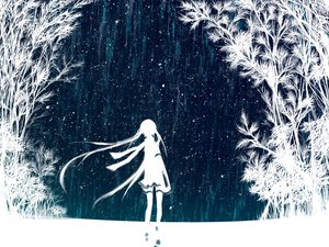 Rating: Safe Score: 239 Tags: hatsune_miku meola polychromatic silhouette snow vocaloid winter User: iSaber