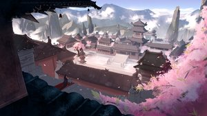 Rating: Safe Score: 112 Tags: animal_ears building cherry_blossoms flowers futoshi_ame japanese_clothes landscape original scenic tree User: BattlequeenYume