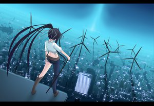 Rating: Safe Score: 26 Tags: black_hair building city kanzaki_kaori long_hair ponytail ribbons rooftop to_aru_majutsu_no_index torn_clothes weapon windmill User: HawthorneKitty