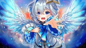 Rating: Safe Score: 33 Tags: amane_kanata angel gray_hair halo hololive purple_eyes syukonbu wings User: BattlequeenYume