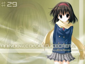 Rating: Safe Score: 3 Tags: nanao_naru rainbow_colored_icecream User: Oyashiro-sama