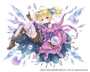 Rating: Safe Score: 85 Tags: ball blonde_hair boots bubbles cape gloves kaku-san-sei_million_arthur konayama_kata loli mage red_eyes shorts thighhighs twintails waifu2x watermark white User: otaku_emmy