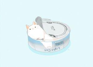 Rating: Safe Score: 34 Tags: animal blue cat chai_(artist) cropped food nobody original polychromatic signed User: otaku_emmy
