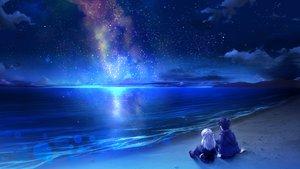 Rating: Safe Score: 163 Tags: beach clouds game_cg hoshi_no_ne_sanctuary katsuragi_masato komatsubara_yomi long_hair marmalade naruse_hirofumi night pantyhose skirt sky stars water white_hair User: C4R10Z123GT
