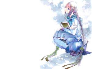 Rating: Safe Score: 19 Tags: blue_eyes book braids bungaku_shoujo gray_hair long_hair white User: w7382001