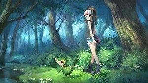Rating: Safe Score: 54 Tags: flowers forest grass pippi_(p3i2) pokemon snivy touko_(pokemon) tree User: FormX