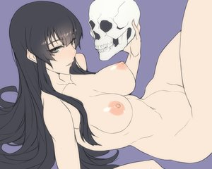 Rating: Questionable Score: 191 Tags: ban black_eyes black_hair breasts kujou_sakurako long_hair nipples nude sakurako-san_no_ashimoto_ni_wa_shitai_ga_umatteiru skull User: Flandre93