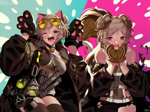 Rating: Safe Score: 23 Tags: animal_ears anthropomorphism bsue catgirl girls_frontline p90_(girls_frontline) signed sunglasses tail thighhighs torn_clothes User: Dreista
