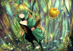 Rating: Safe Score: 52 Tags: animal_ears apple atalanta_(fate) brown_hair catgirl fate/apocrypha fate_(series) food fruit gloves green_eyes long_hair tagme_(artist) tail tree User: BattlequeenYume