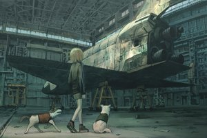 Rating: Safe Score: 27 Tags: aircraft animal brown_hair dog original short_hair shorts tokunaga_akimasa User: RyuZU