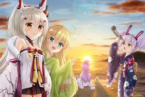 Rating: Safe Score: 36 Tags: albacore_(azur_lane) anthropomorphism ayanami_(azur_lane) azur_lane beach group japanese_clothes laffey_(azur_lane) loli manjuu_(azur_lane) shironora signed unicorn_(azur_lane) User: mattiasc02