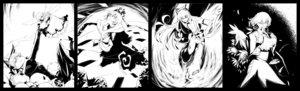 Rating: Safe Score: 49 Tags: 35_(pixiv) animal_ears bow braids catgirl dress flowers fujiwara_no_mokou kaenbyou_rin kagiyama_hina kazami_yuuka long_hair skirt skull sunflower touhou wings zombie_fairy User: noitis