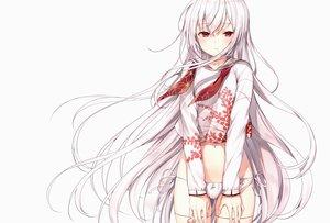 Rating: Safe Score: 102 Tags: komeshiro_kasu long_hair original panties red_eyes ribbons scan underwear white white_hair User: Nepcoheart
