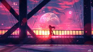 Rating: Safe Score: 109 Tags: animal clouds headphones long_hair original planet ryky scenic sky sunset User: BattlequeenYume