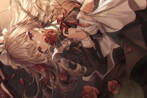 Rating: Safe Score: 65 Tags: blush brown_hair duyu flowers headband long_hair maid original polychromatic red_eyes rose User: BattlequeenYume