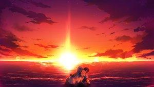 Rating: Safe Score: 142 Tags: beach game_cg kiss koiiro_marriage maid marmalade murakami_suigun purple_hair sunset takamiya_kuon User: Wiresetc