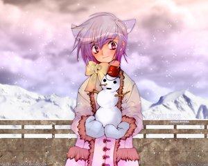 Rating: Safe Score: 18 Tags: aoyagi_ritsuka loveless snow snowman winter User: Oyashiro-sama