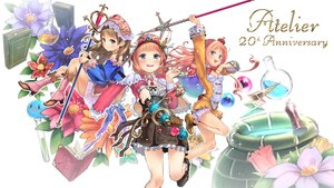 Rating: Safe Score: 25 Tags: atelier atelier_meruru atelier_rorona atelier_totori bloomers blue_eyes blush book boots brown_hair crown dress flowers gray_eyes hat headdress long_hair merurulince_rede_arls pink_hair rororina_fryxell skirt staff sumi_(oyasumie) totooria_helmold User: otaku_emmy