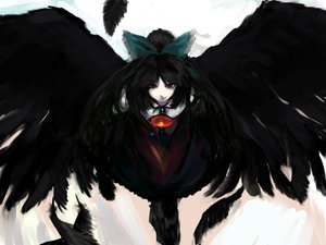 Rating: Safe Score: 98 Tags: feathers reiuji_utsuho sinzan touhou wings User: FormX