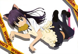 Rating: Safe Score: 44 Tags: animal_ears nyantype tail taiyaki thighhighs waitress working!! yamada_aoi User: Wiresetc